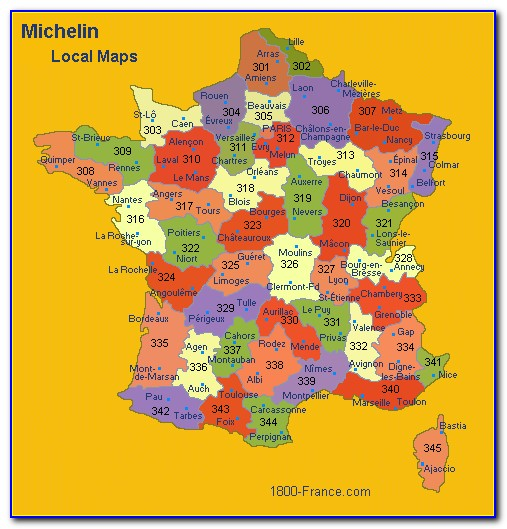 Michelin Maps France 518