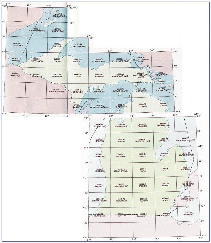 Michigan Topo Lake Maps