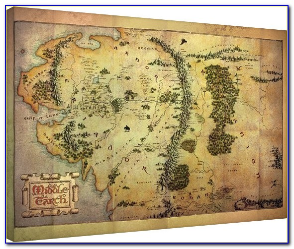 Middle Earth Map Canvas Art