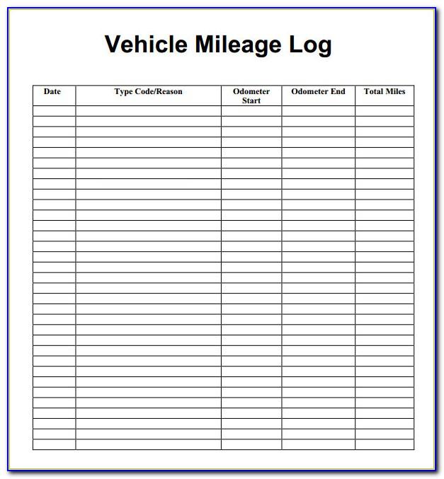 Mileage Sheet Templates