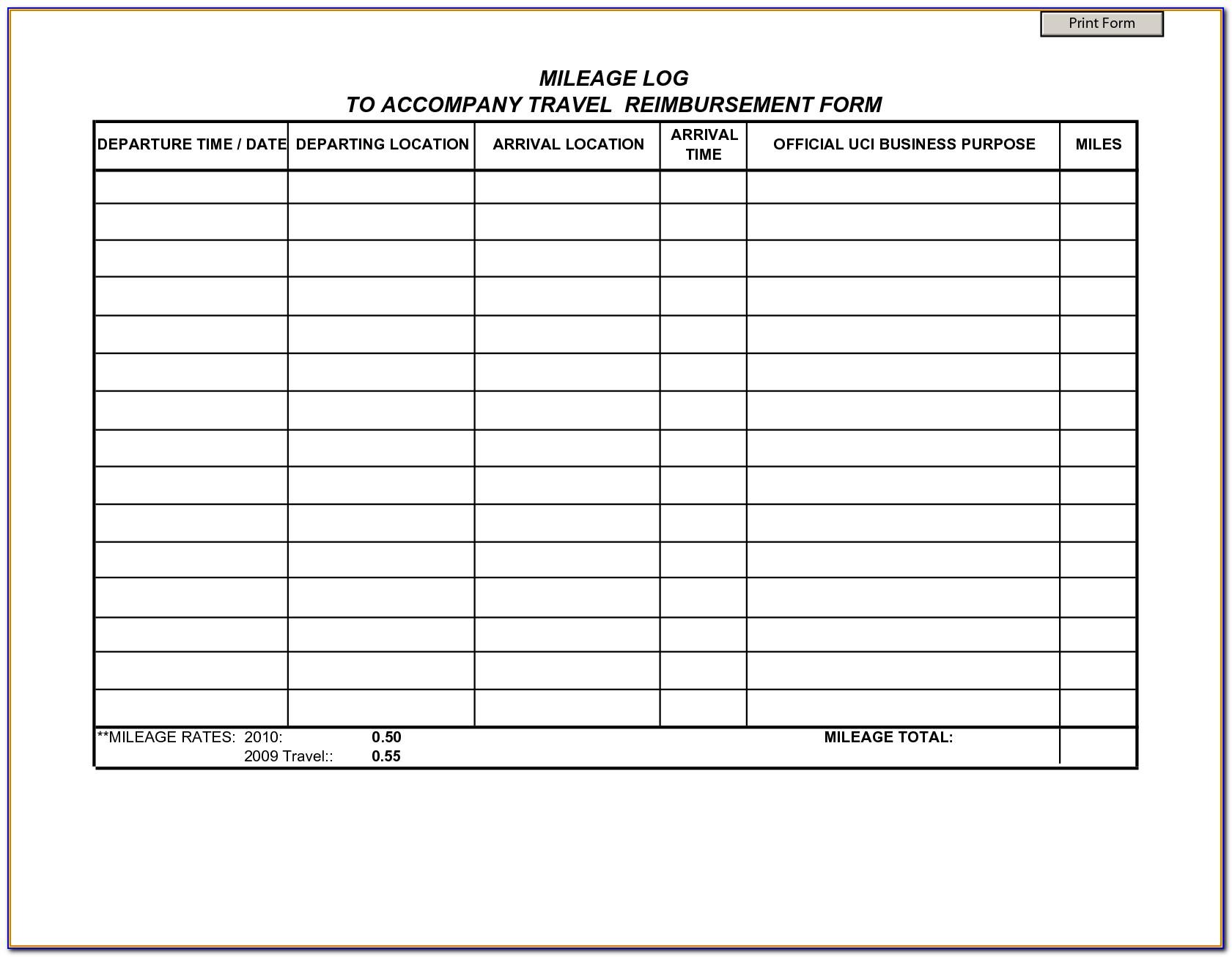 Mileage Spreadsheet Template Uk