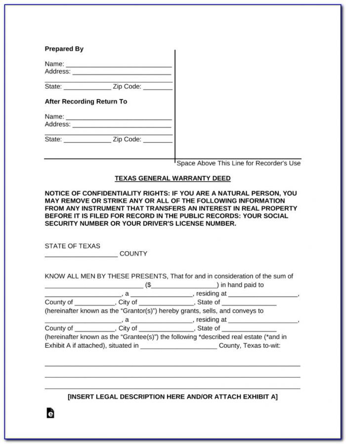 Mineral Deed Transfer Form Texas