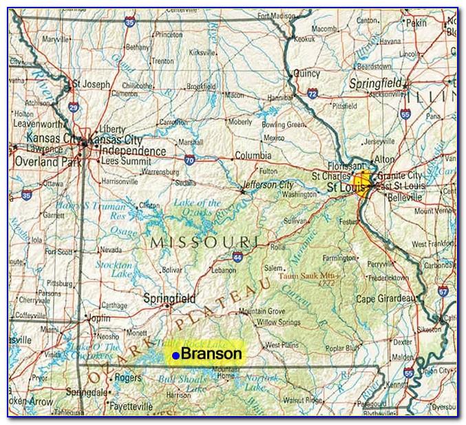 Missouri Map Showing Branson