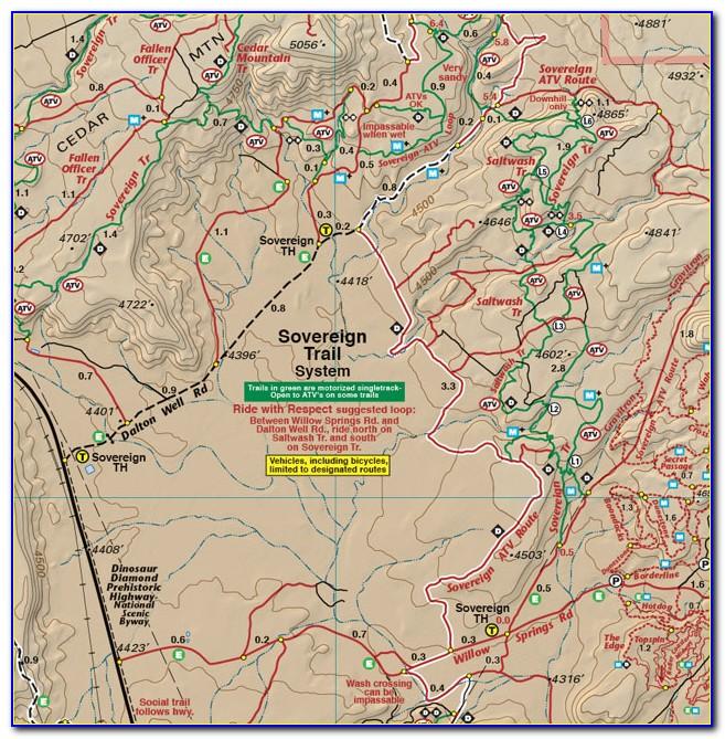 Moab Utah Off Road Trail Map