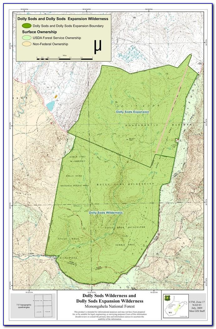 Monongahela National Forest Camping Map
