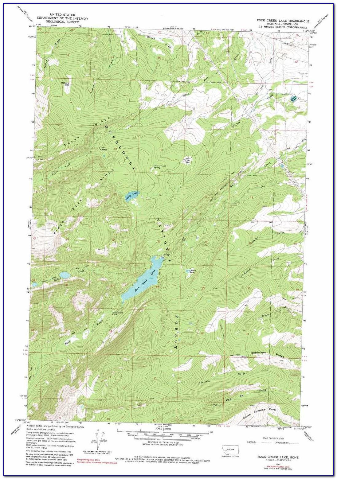 Montana Topo Maps Circa 1900