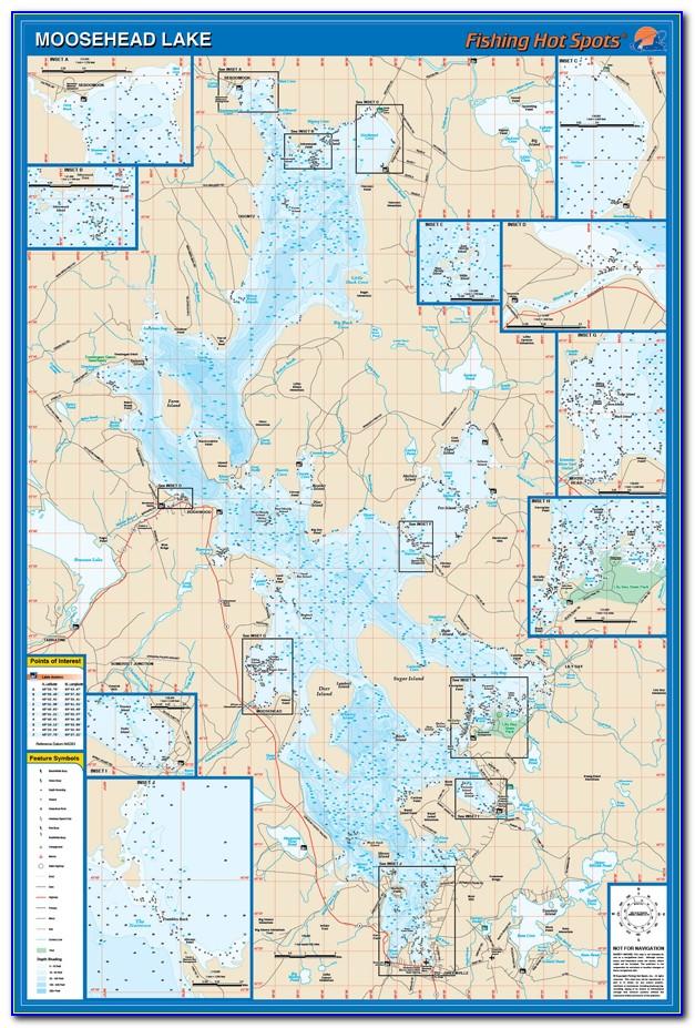 Moosehead Lake Map Maine