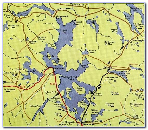 Moosehead Lake Me Map