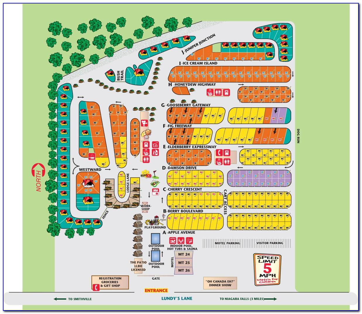 Myrtle Beach Koa Site Map
