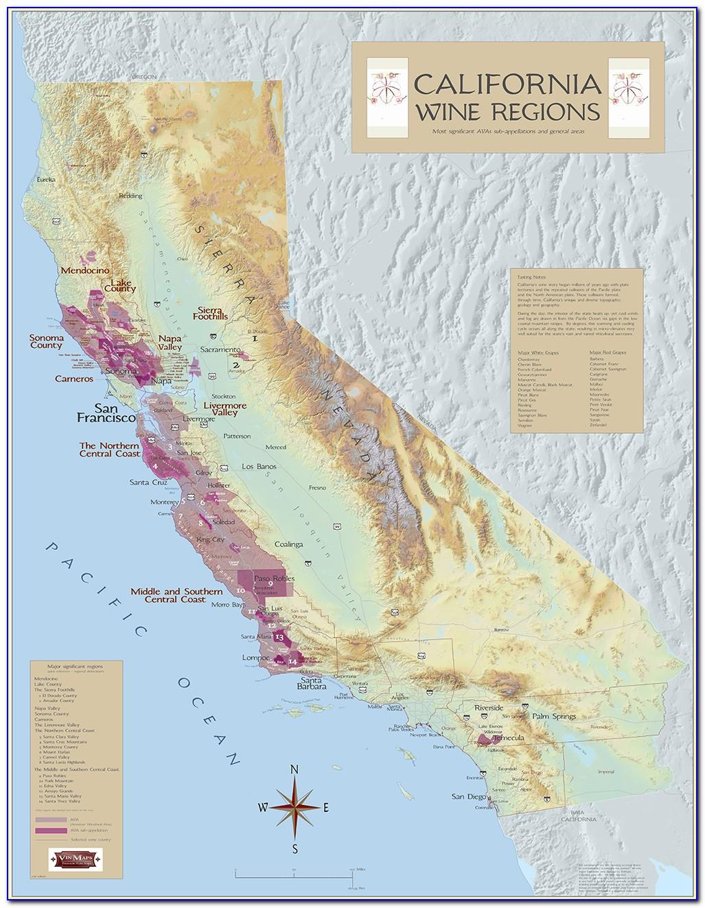 Napa California Winery Map