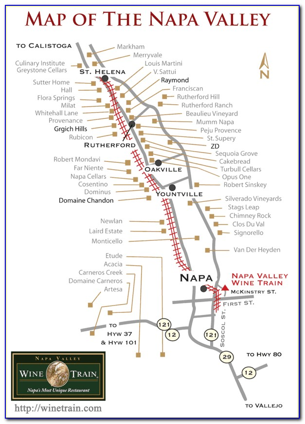 Napa Valley Vineyard Map Pdf
