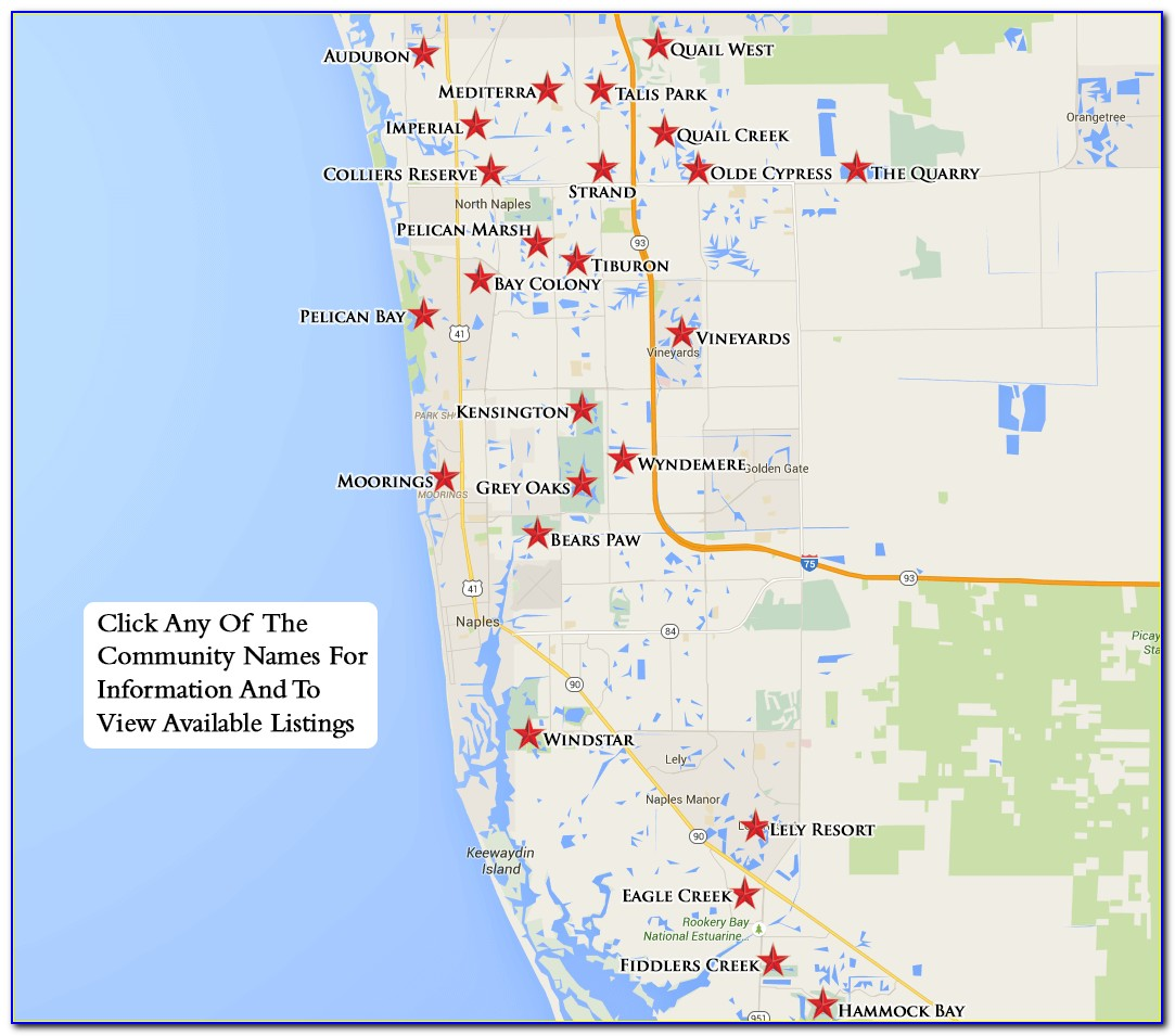 Naples Florida Real Estate Map Search