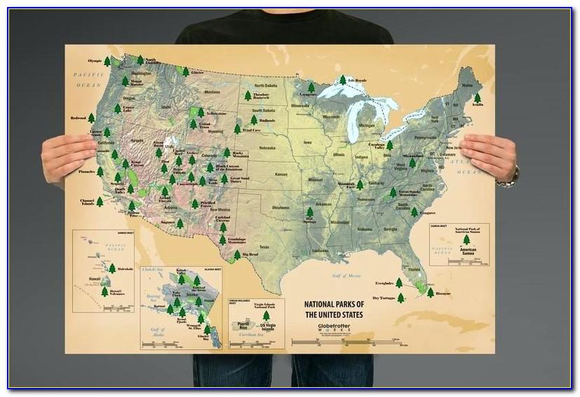 National Parks Explorer Scratch Off Map