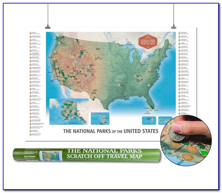 National Parks Scratch Off Map