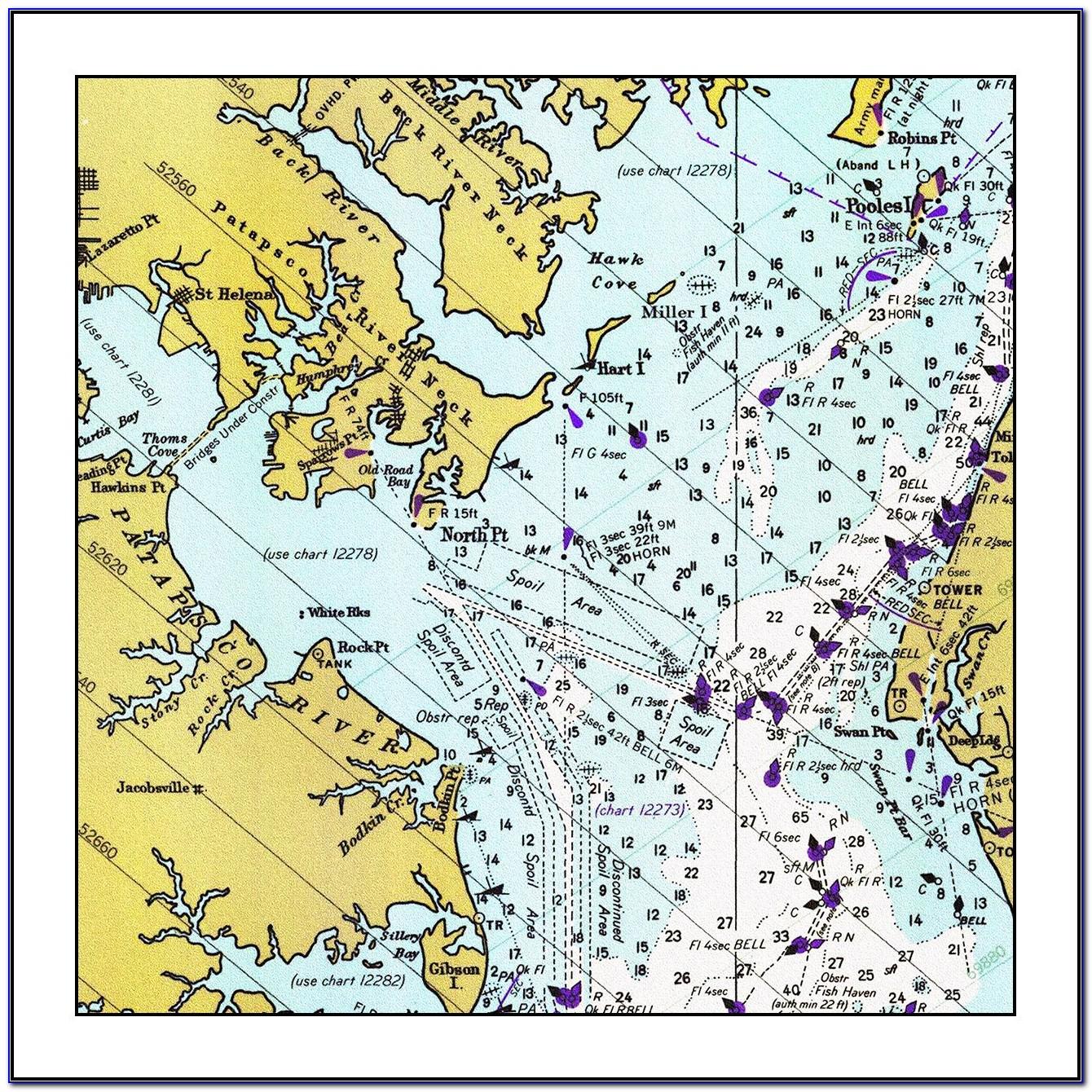 Nautical Map Of Chesapeake Bay