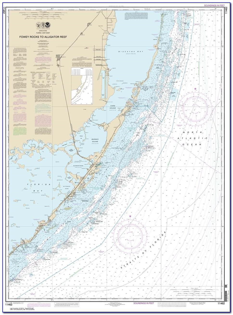 Nautical Map Of Florida Bay