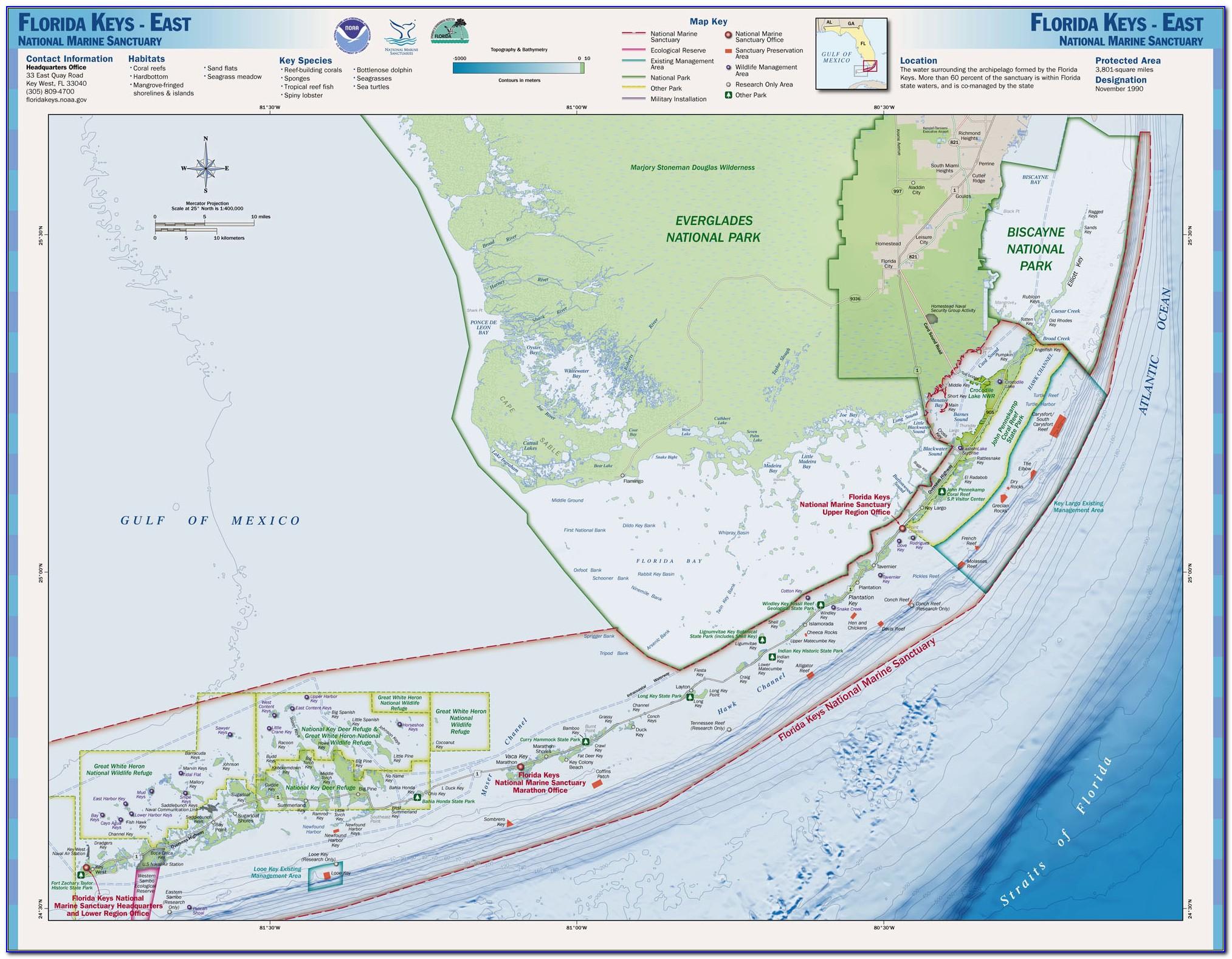 Nautical Map Of Florida Keys