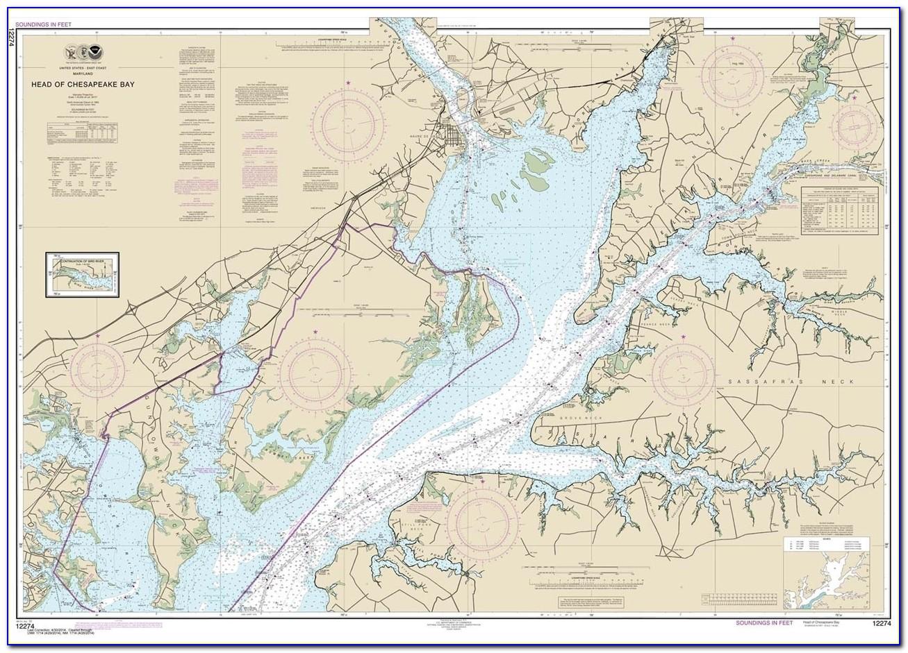 Nautical Map Of Lower Chesapeake Bay