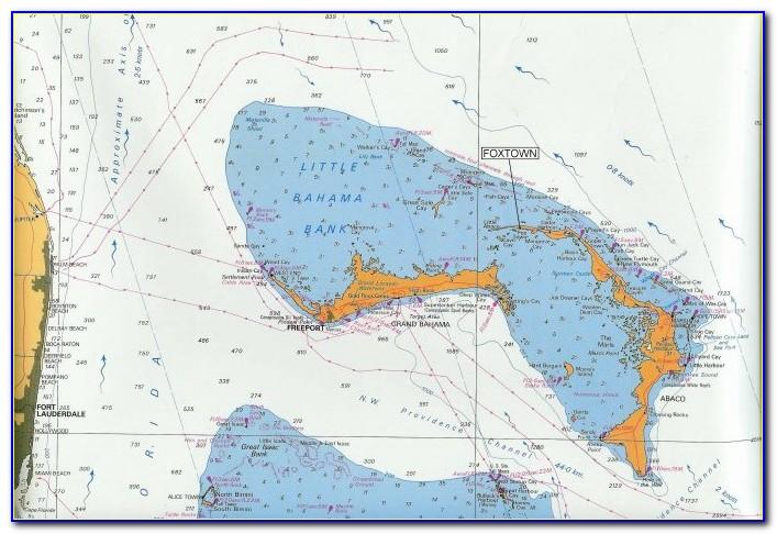 Nautical Map Of The Abacos Bahamas