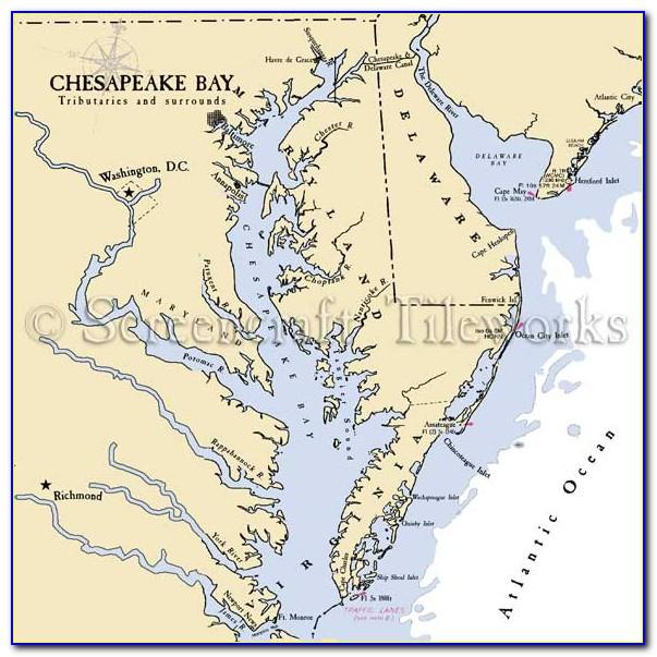 Nautical Map Of Upper Chesapeake Bay
