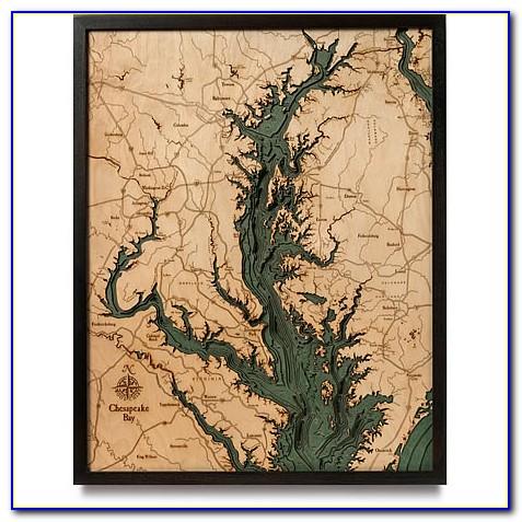 Nautical Wood Maps Canada