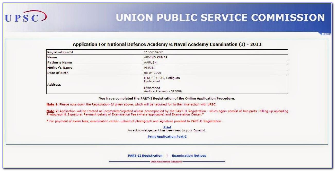 Nda Online Forms Date