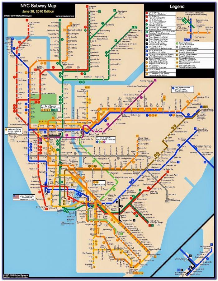 New York City Subway Maps Free