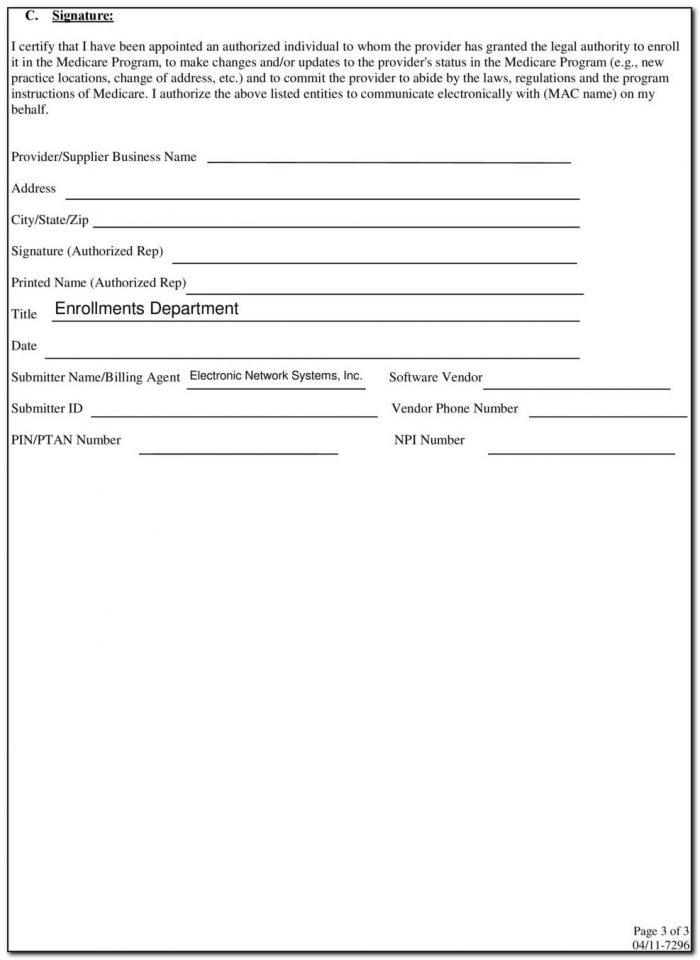 Ngs Medicare Edi Enrollment Form