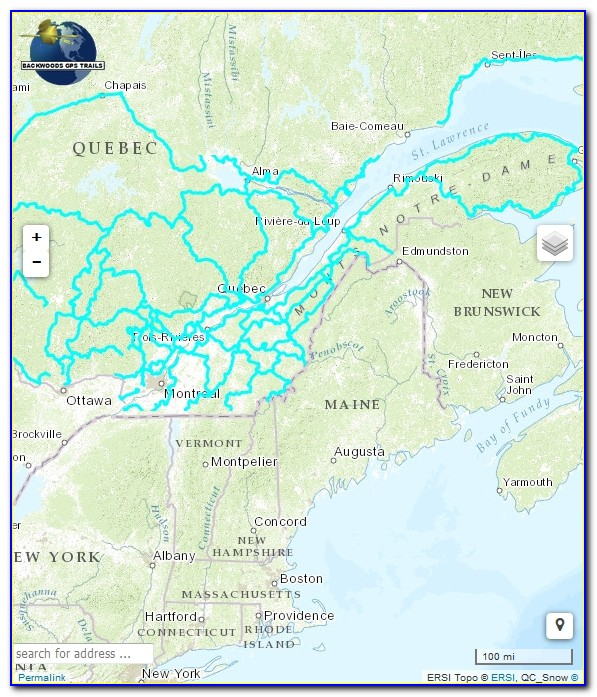Nh Snowmobile Trail Map Gps