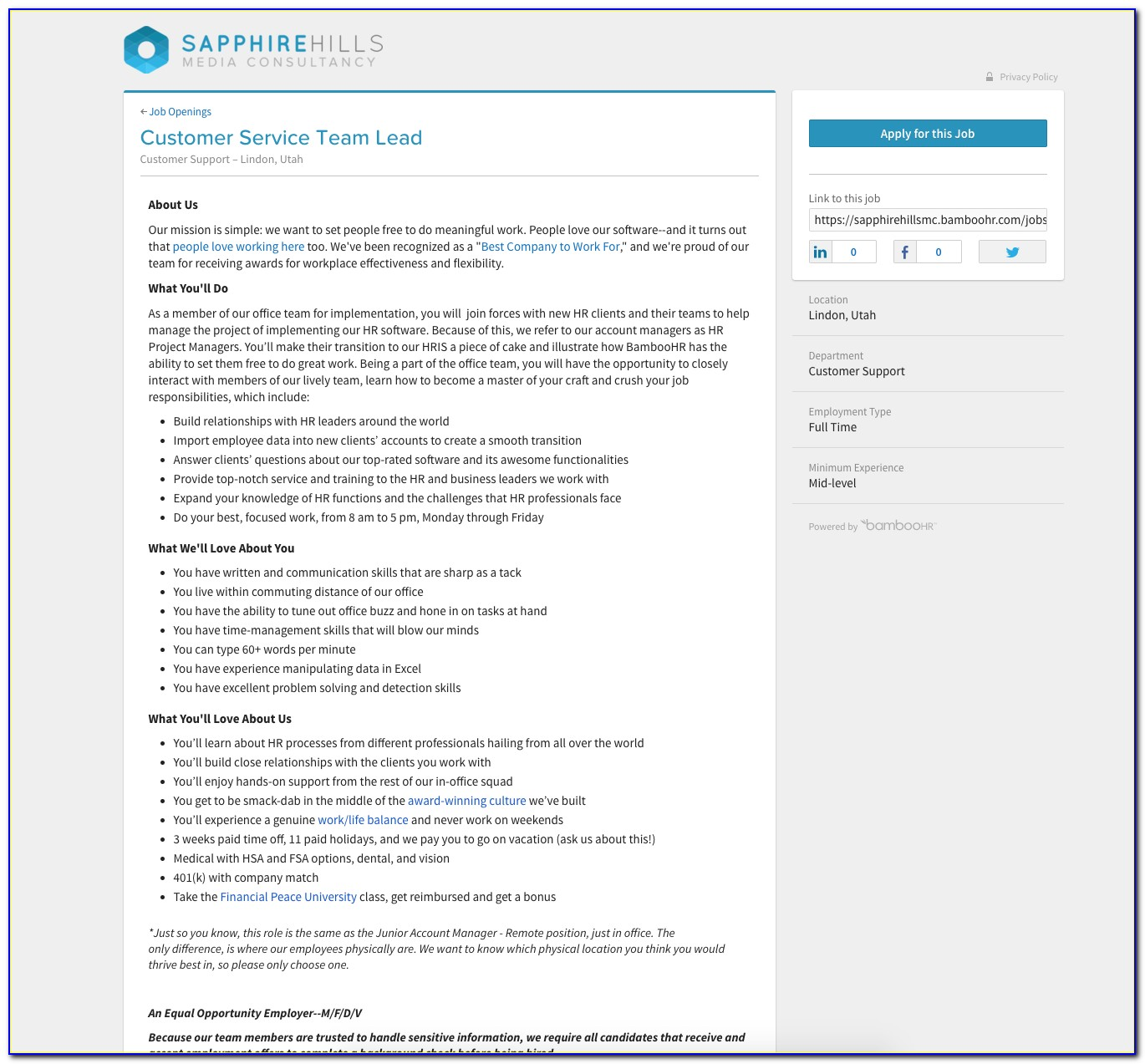 Applicant Tracking Software (ats) Hiring System | Bamboohr In Job Applicant Tracking Spreadsheet