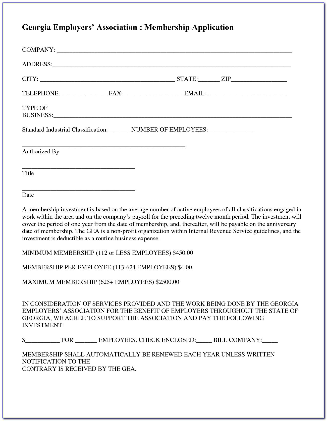 Non Profit Organization Application Form California
