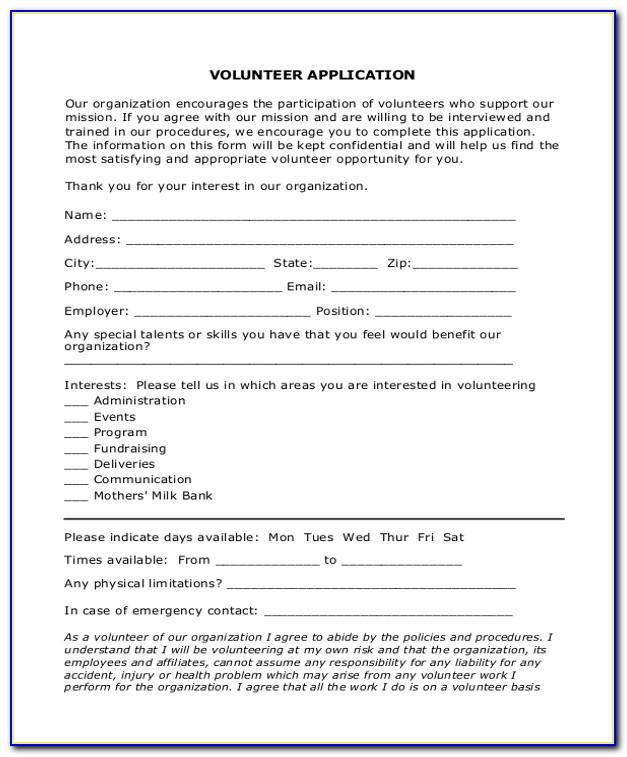 Nonprofit Organization Application Form