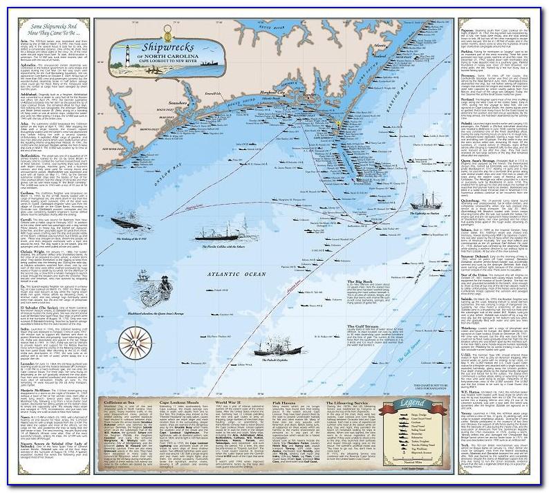 North Carolina Shipwreck Coordinates