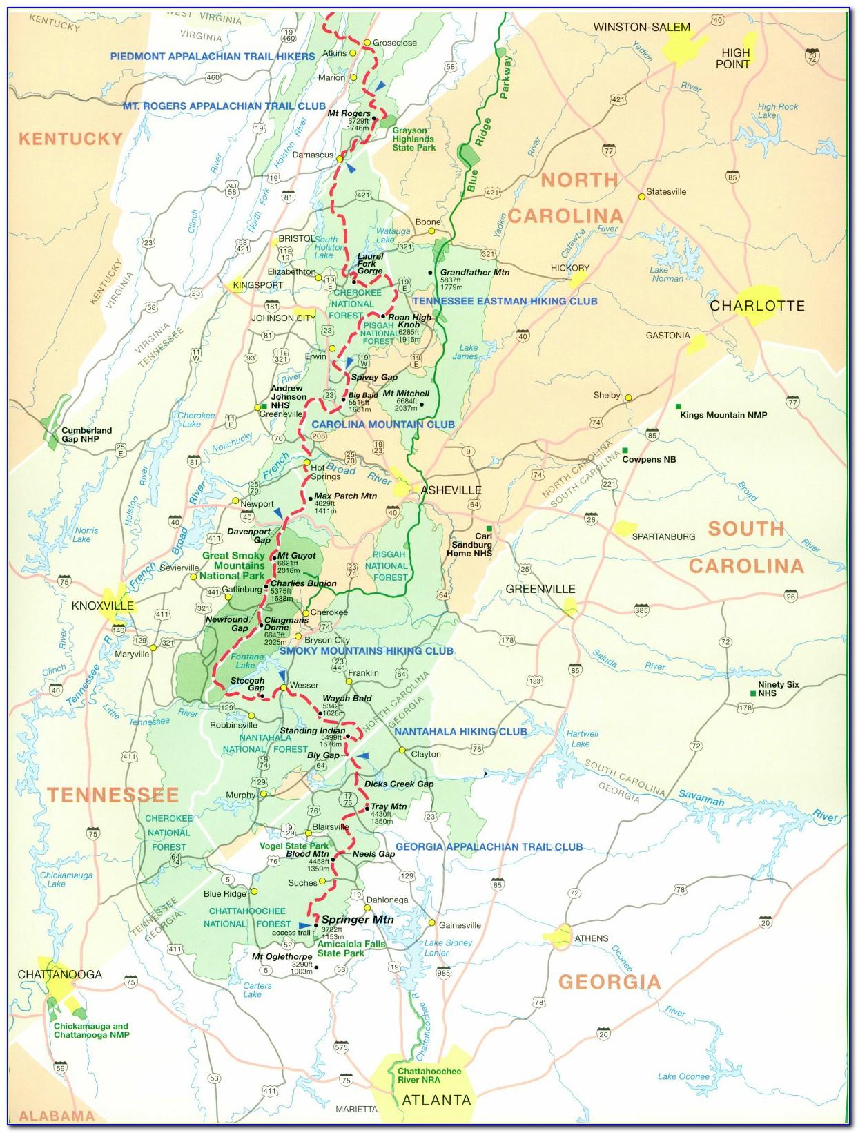 North Georgia Wine Trail Map