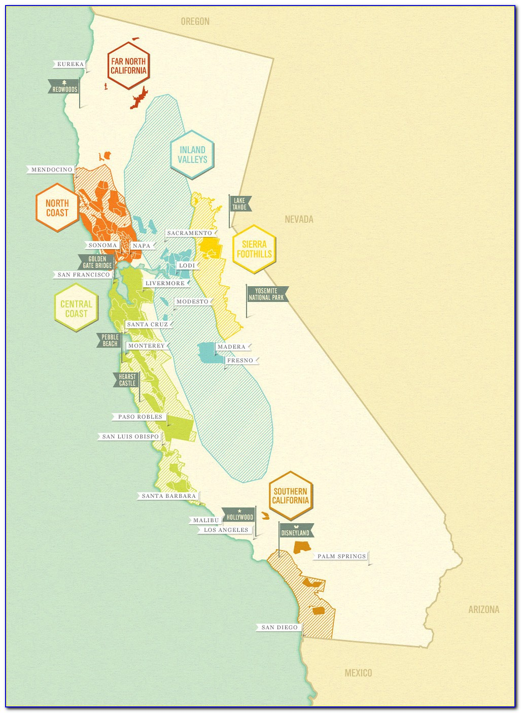 Northern California Winery Map