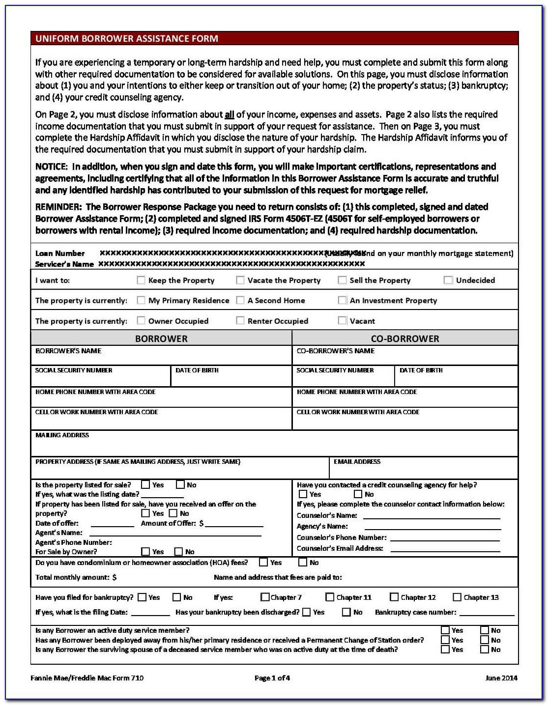 Ocwen Loan Modification Package Pdf