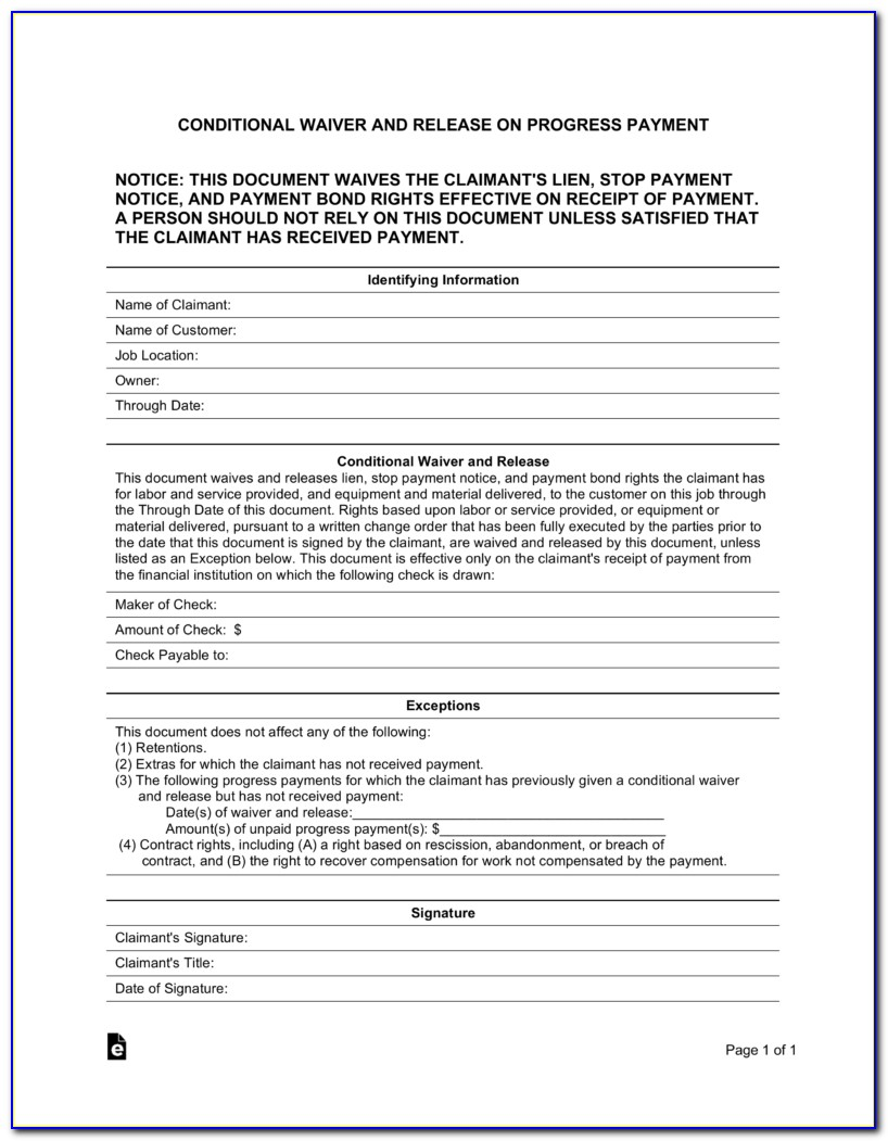 Ohio Final Lien Waiver Form