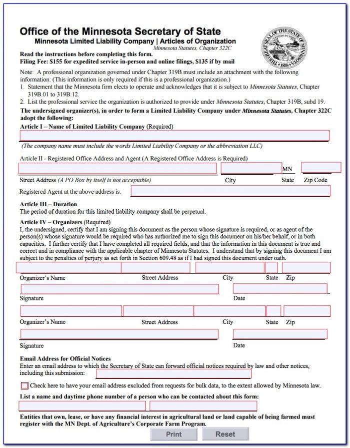 Oklahoma Secretary Of State Llc Forms