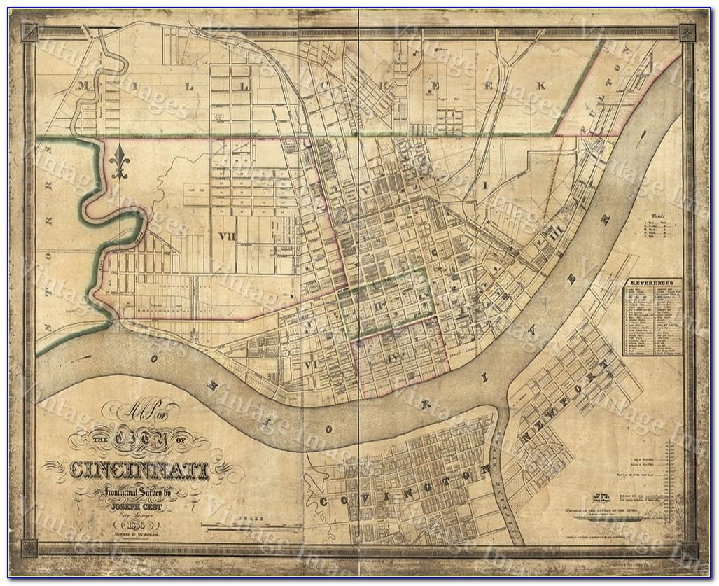 Old Maps Of Cincinnati Ohio