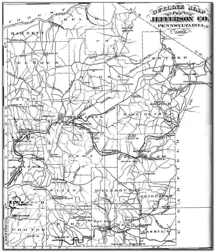 Old Maps Of Jefferson County Pa