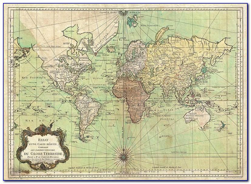 Old Nautical Maps Caribbean