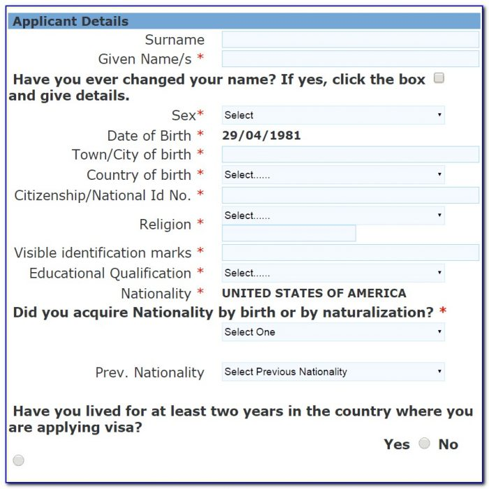 Online Indian Visa Application For Us Citizens