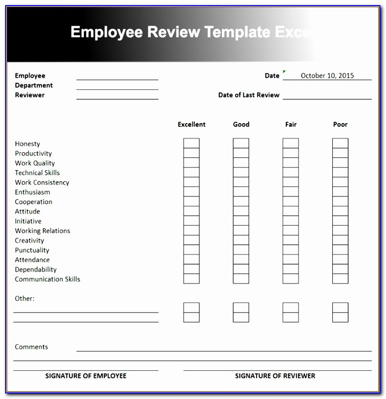 Performance Matrix Template Excel Gsbda Awesome Employee Performance Review Template