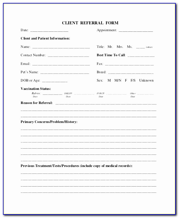 Referral Form Real Estate Referral Form Real Estate Form Sample Dental Referral Form Template Unique Doc Xls Letter Templates Eytui
