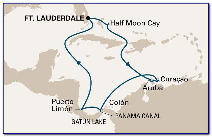 Panama Canal Cruise Map