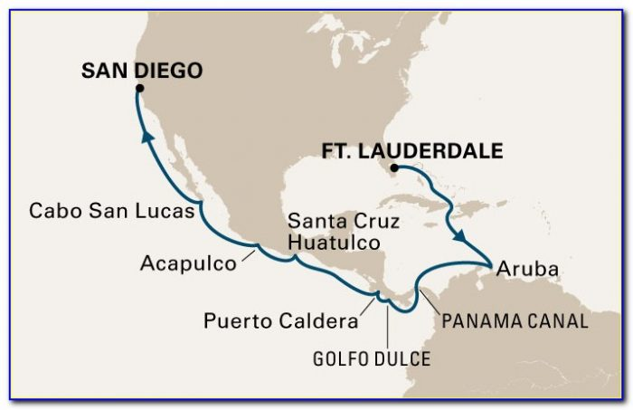 Panama Canal Cruise Route Map