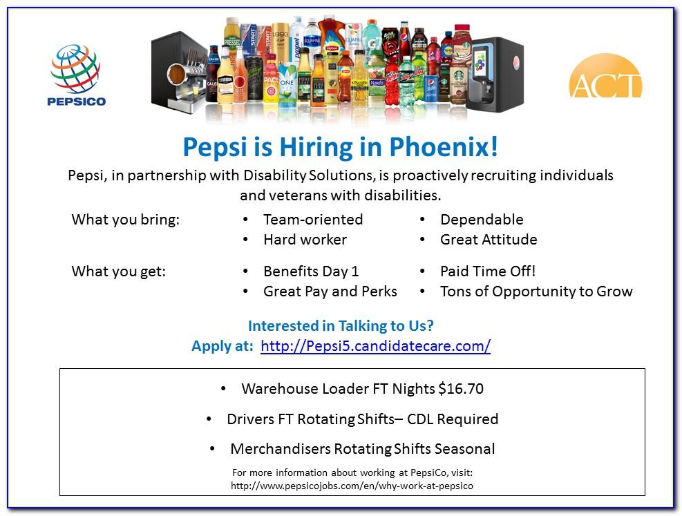 Pepsi Warehouse Job Application