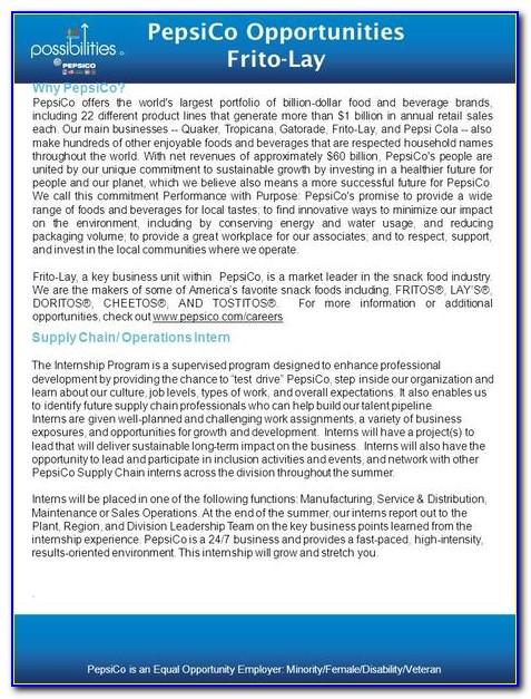 Pepsico Job Application Process