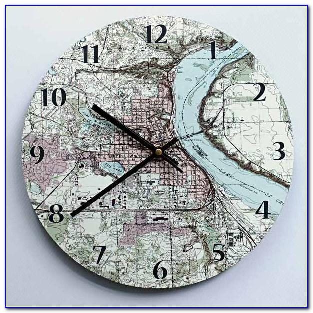 Personalised Map Location Clock