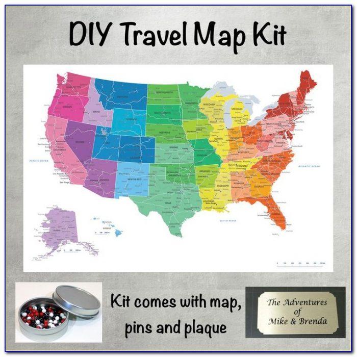 Personalized Push Pin Us Map
